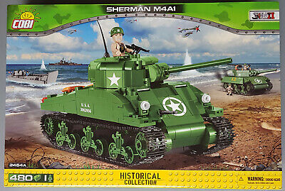 COBI 2464A Sherman M4A1 HISTORICAL COLLECTION World War II Panzer Modell Bausatz