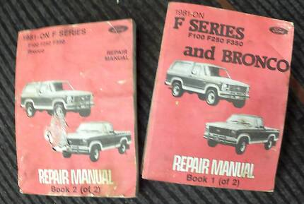 FORD F- SERIES F100 F250 F350 & BRONCO 2 BOOK REPAIR MANUAL Midland Swan Area Preview