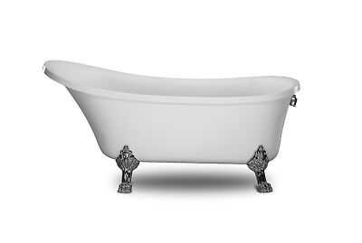 Deluxe 1001NOW Cesano White Freestanding Acrylic Seamless Bathtub 63""