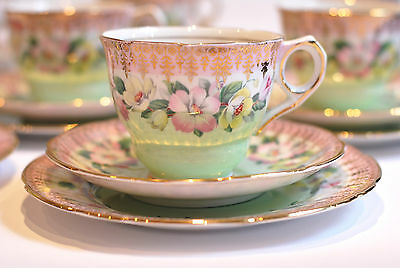 Vintage Tea cup Saucer Teaplate Trio Crockery  English fine bone Royal Stafford