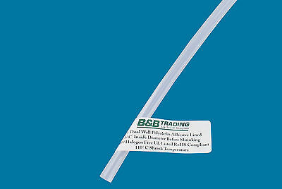 14 6.0mm Id X 4 Ft 31 Ratio Clear Dual Wall Adhesive Lined Heat Shrink Tubing