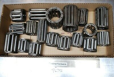 Lot of (18) old Dirty Industrial size Needle Roller Bearings Steampunk TL743