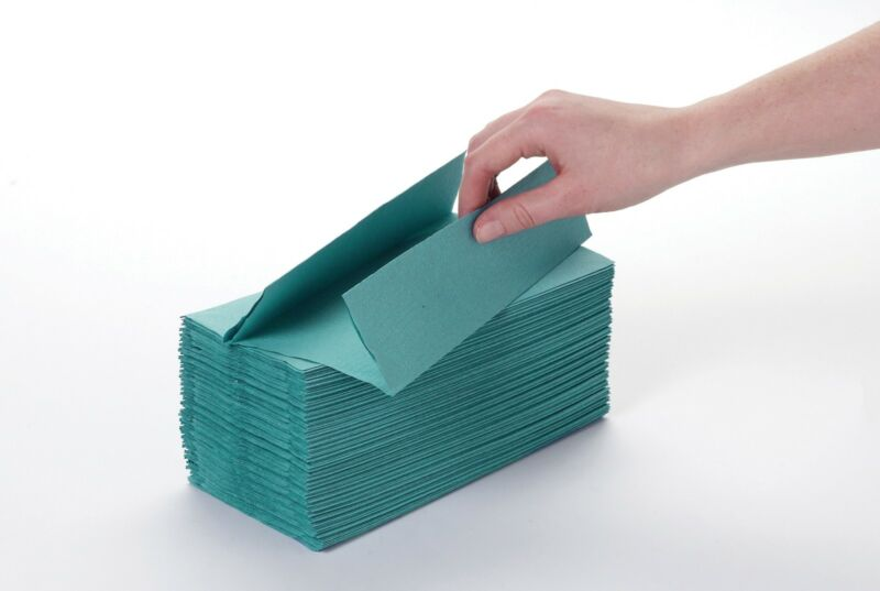 C Fold Stacked Hand Towels