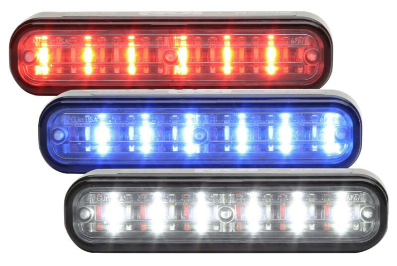 Whelen ION TRIO Universal Mount LED Grille Light R/B/W I3JC