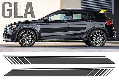 Mercedes Gla Black Edition Stil Seitenstreifen Tür Grafik - AMG