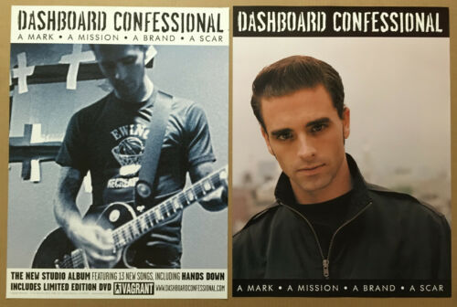 DASHBOARD CONFESSIONAL 2003 DOUBLE SIDED PROMO POSTER of Mark CD Never Displayed