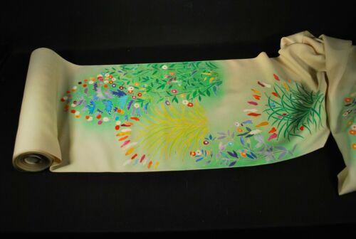 "LONG ROLL of ""SPECIALLY SELECTED"" JAPANESE SILK / Kimono Textile Fabric"