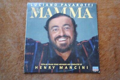 Vintage 33 Rpm Lp Luciano Pavarotti   Henry Mancini   Mamma Italian Songs