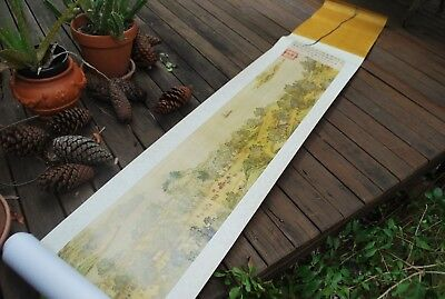 Chinese Scroll City of Cathay Hand Print by Chinese Master Painters