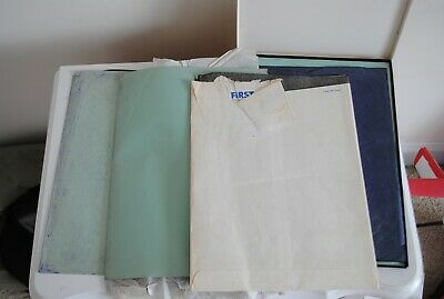 Vintage Lot Black Blue Carbon Paper Miscellaneous Uss Copy Film Sheet Typewriter