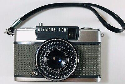 Olympus pen EES-2 half-frame point and shoot Vintage camera. D. Zuiko Lens Japan
