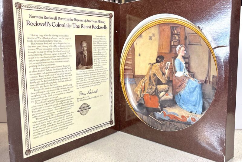 2 Rockwells Colonials 9 1/4 Plate  Portrait For Bridegroom & The Journey Home!!!