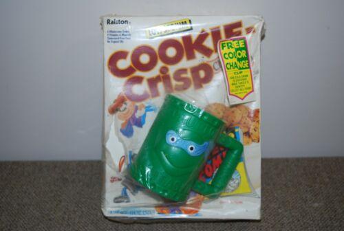 Rare! Vintage 1991 TEENAGE MUTANT NINJA TURTLES~ Cookie Crisp CEREAL BOX W/ MUG