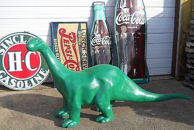 SINCLAIR DINO 8' FOOT CAST ALUMINUM Dinosaur Mobile Texaco Gulf Gas & Oil SIGN .