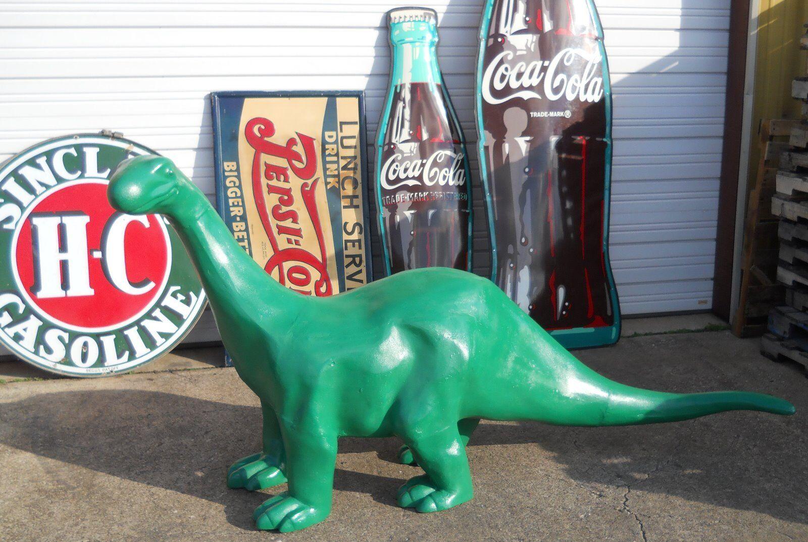 SINCLAIR DINO 8' FOOT CAST ALUMINUM Dinosaur Mobile Texaco Gulf Gas & Oil SIGN