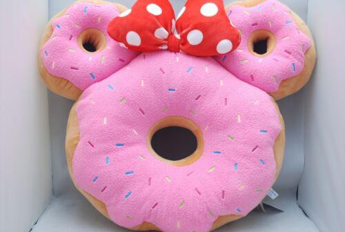 Tokyo Disney Resort Minnie Mouse Pink Donut Shape Cushion Pillow F/S