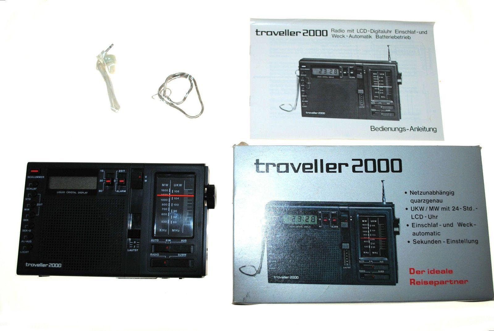 TRAVELLER 2000 Transistorradio Radiogerät Rundfunkempfänger unbenutzt!
