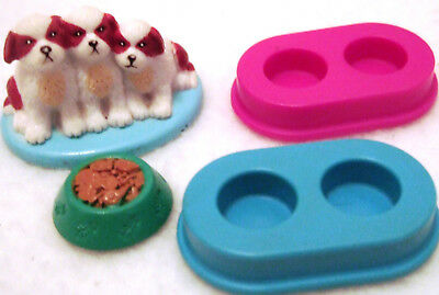 Lot of Mattel Fisher Price Dogs & Pet Bowls