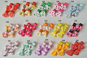 99p-for-2-SALE-baby-girls-hair-slides-UK-stock-alligator-clips-bows