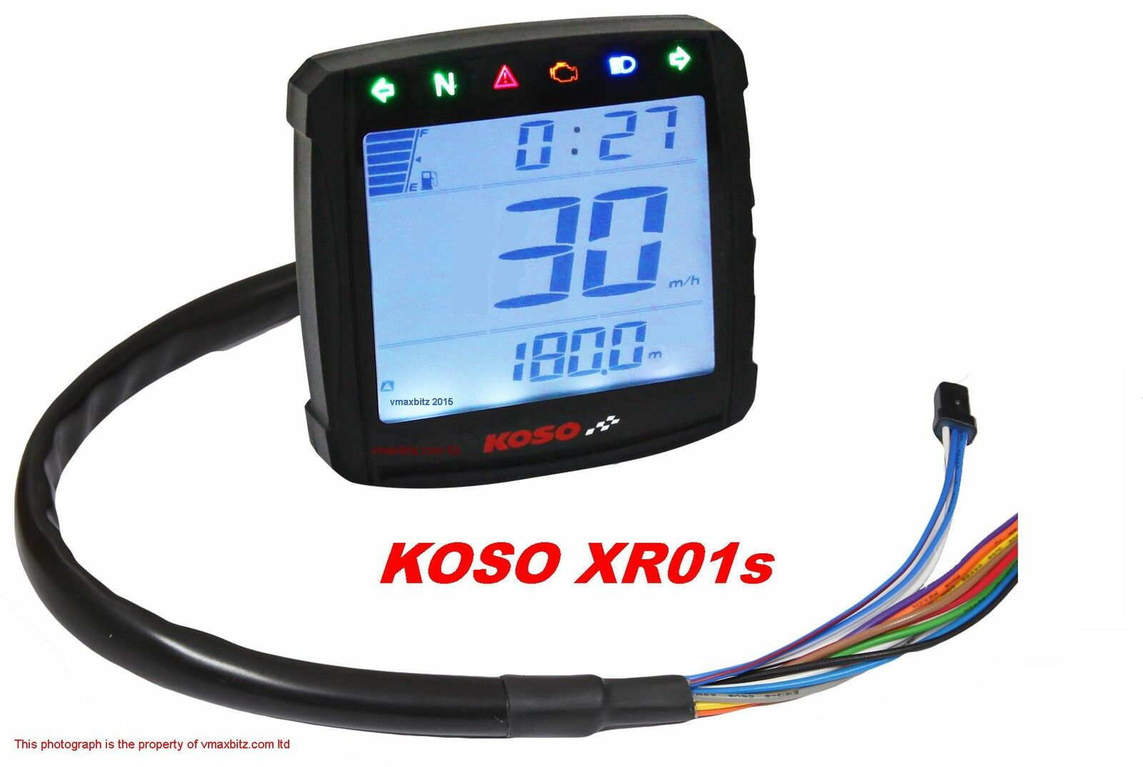 Koso Xr01s Speedometer Warning Lights Fuel Gauge Volt Meter Clock Wiring Diagram 2 Of 4