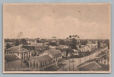 Georgetown—Demerara GUYANA Rare Antique Postcard—City View ca. 1930s