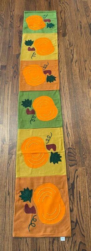 Fall Pumpkin Applique Table Runner