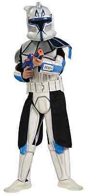 Captain Rex Star Wars Clone Trooper Fancy Dress Halloween Deluxe Child - Captain Rex Costumes