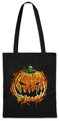 Pumpkin Head Stofftasche Einkaufstasche Face Witch Black Magic Kürbis (Kürbis Tasche)
