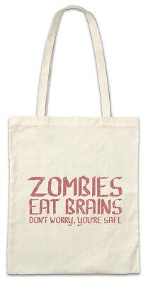 tofftasche Einkaufstasche Fun Nerd Brain Zombie essen Hirne (Zombie-essen)