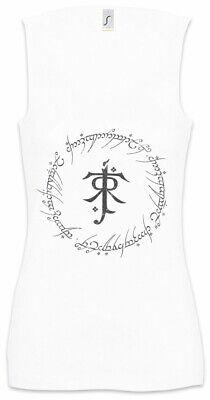 Ring Text Damen Tank Top Herr der Frodo Ringe Inschrift Mordor Sauron Aufschrift - Ring Damen Tank