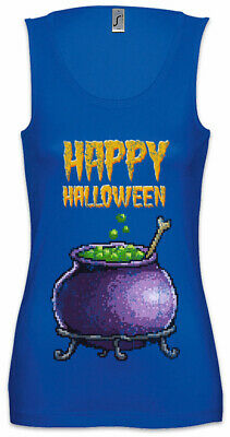 n Damen Tank Top Gamer Gaming Geek Nerd Fun Witch Pot Kettle (Halloween Pixel)