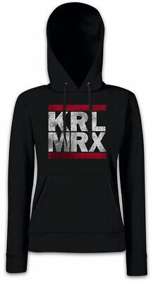 KRL MRX Damen Hoodie Kapuzenpullover Karl Kommunismus Sozialismus Marx Engels