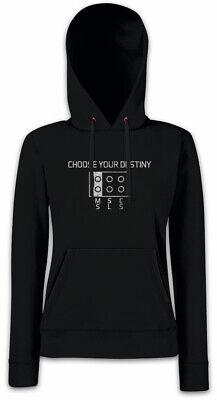 Choose Your Destiny Damen Hoodie Kapuzenpullover Plug Nerd Geek Fun Msc SLS