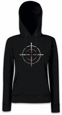 BLOODY CROSSHAIRS SNIPER Damen Hoodie Kapuzenpullover Fadenkreuz Gun Target US