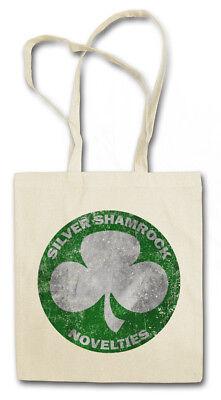 SILVER SHAMROCK NOVELTIES STOFFTASCHE Road Sign Ortsschild Halloween Firma (Halloween Silver Shamrock)