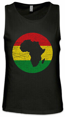 Rasta Africa Circle Men Tank Top Babylon Irie Ska Reggae Jamaica Rastafari