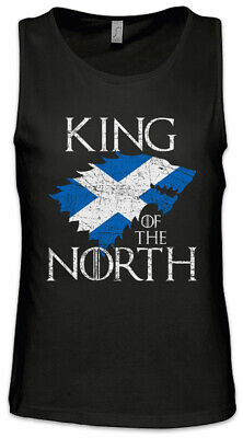 King In The North Herren Tank Top Game of Schottland Fun Thrones Flagge Wolf ()