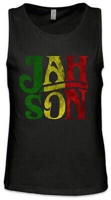 Jah Son Men Tank Top Rasta Rastafari Babylon Irie Ska Reggae Jamaica Africa
