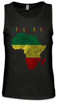 Africa Unite Men Tank Top Rasta Rastafari Babylon Irie Reggae Jamaica Jah