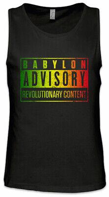 Babylon Advisory Men Tank Top Rasta Irie Ska Reggae Jamaica Africa Rastafari