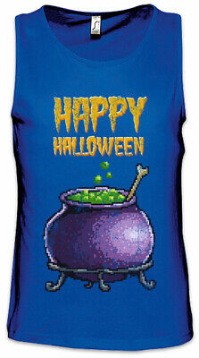 n Herren Tank Top Gamer Gaming Nerd Fun Witch Pot Kettle (Halloween Pixel)