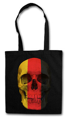 GERMANY SKULL FLAG HIPSTER BAG - Stofftasche Stoffbeutel Jutebeutel - German BRD (German Flag Bag)