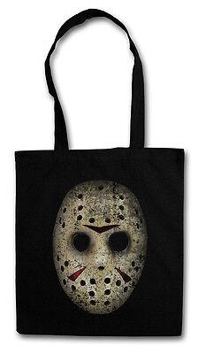 HOCKEY MASK Hipster Shopping Cotton Bag - Freitag The 13 Friday Jason Horror (Horror Mask Shop)