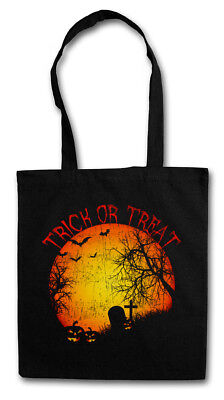 TRICK OR TREAT STOFFTASCHE Graveyard Halloween Samhain USA Creature Splatter