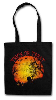 TRICK OR TREAT DAMEN TASCHE STOFFTASCHE Süßes sonst gibt's Saures Halloween