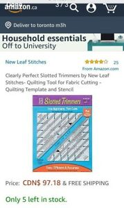 Slotted quilting ruler - have 2