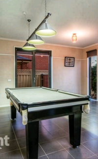 7ft Solid Slate Pool/Billiard Table and Matching Light Fixture