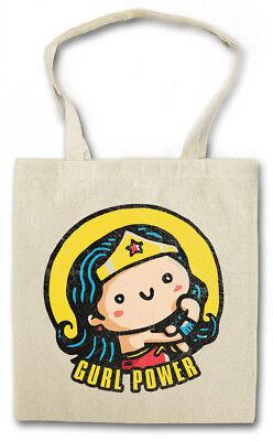 Gurl Power II Stofftasche Einkaufstasche Wonder Fun Girl Woman Hero Feminism