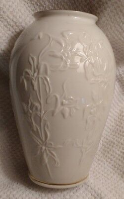 LENOX Masterpiece Collection Gold Trimmed Vase - Raised Iris Design