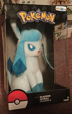 Tomy Pokemon GLACEON Plush 2017 Toys R Us Exclusive Perfect Holiday Gift 10""